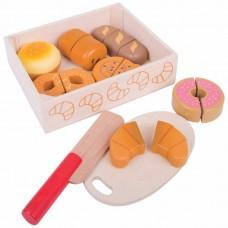 Κουτί με ξύλινα γλυκά Bigjigs BJ487