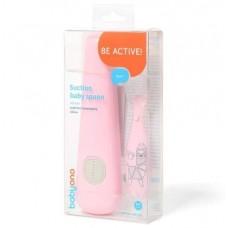 Εκπαιδευτικό Κουταλάκι Σιλικόνης Ροζ Babyono BN1461-01