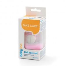 Σετ Περιποίησης Νυχιών για το Μωρό με Θήκη-Ροζ Babyono BN398-02
