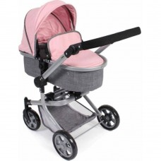 Καρότσι Κούκλας Pink-Grey Kombi Mika Bayer Chic 59515