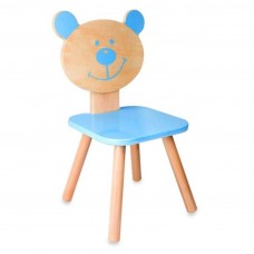 Classic World Ξύλινη παιδική καρέκλα μπλε Αρκούδος CL4804