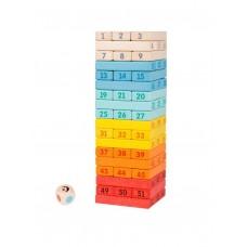 Ξύλινος Πολύχρωμος Πύργος Ισορροπίας Classic World CL3752