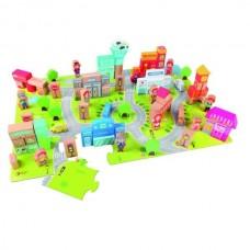 Ξύλινα Τουβλάκια Πόλη City Building Blocks Classic World CL5005