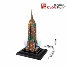 Empire State Building (ΗΠΑ) 3D LED Puzzle Cubic Fun CF0503