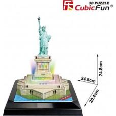 Άγαλμα της Ελευθερίας 3D Puzzle Led Cubic Fun CF0505