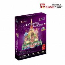 Καθεδρικός Ναός Αγίου Βασιλίου 3D LED Puzzle Cubic Fun CF0519