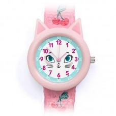 Παιδικό Ρολόι Χειρός Γατούλα Djeco 00424