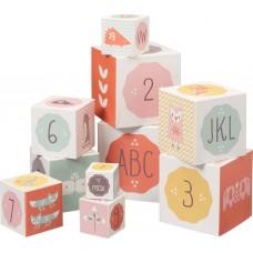 Στοιβαζόμενοι Κύβοι με Νούμερα και Σχέδια Girl Fresk F8120