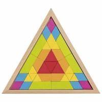 Ξύλινο  Παζλ Μωσαϊκό 37τμχ Τρίγωνο Goki 58590