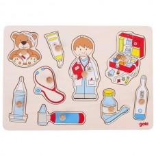 Ξύλινο Παζλ Ενσφηνώματα Γιατρός Goki 57748