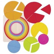Ξύλινο Παζλ Κύκλοι 21τμχ Montessori Goki 57737