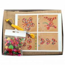 Δημιουργία Τσάντας με Πολύχρωμα Κουμπιά House of Crafts HC570