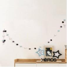 Γιρλάντα Μπλε Pompom Home Deco Kids HD2379