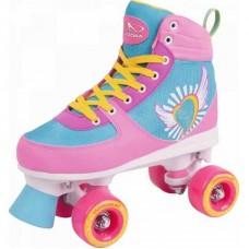 Rollers Skate Wonders pink-blue No 35/36 Hudora 13150