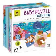 Baby Puzzle Διπλής Όψεως Θάλασσα 32τμχ Ludattica 74778