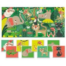 Baby Puzzle Διπλής Όψεως Ζούγκλα 32τμχ Ludattica 20507