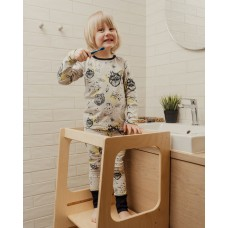 Montessori Helper Tower Βοηθός Κουζίνας Natural Leg&go HT01NT