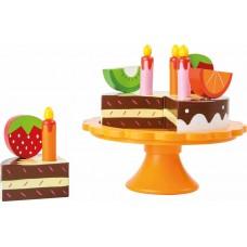 Ξύλινη τούρτα γενεθλίων