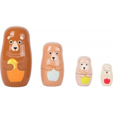 Ξύλινη Οικογένεια Αρκούδα Μπαμπούσκα Legler 10621