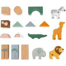 Ξύλινα Τουβλάκια 50τμχ Safari Legler 11699