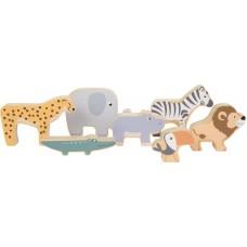 """Ξύλινα Ζωάκια Stacking Animals """"Safari"""" Legler 11704"""