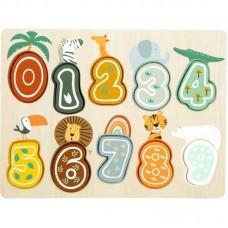 """Ξύλινο Παζλ με Αριθμούς """"Safari"""" Legler 11702"""