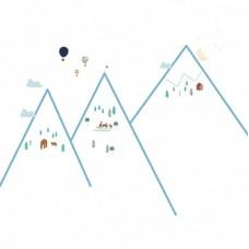 Αυτοκόλλητα Τοίχου Mountains Mimi'lou MML-ART482