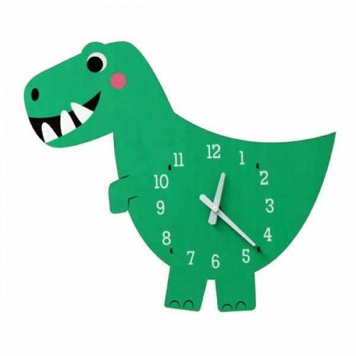Ξύλινο παιδικό ρολόι τοίχου Dex ο Δεινόσαυρος RexLondon 28464