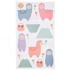 Παιδικά Αυτοκόλλητα Τοίχου Little Llama Sass and Belle YEE004