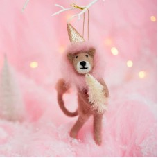 Χριστουγεννιάτικο Στολίδι Wonderland Pink Lion Sass and Belle FELTXM007