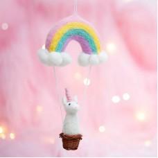 Χριστουγεννιάτικο Στολίδι Wonderland Rainbow Unicorn FELTXM010