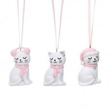 Χριστουγεννιάτικο Στολίδι Σετ 3τμχ Cutie Cat Sass and Belle QKXM032