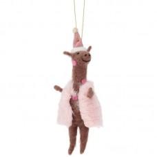 Χριστουγεννιάτικο Στολίδι Wonderland Pink Giraffe Sass and Belle FELTXM008