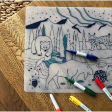 Mini Σουπλά Ζωγραφικής από Σιλικόνη  Σετ Wildlife Super Petit SMATBOREAL004