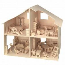 Κατασκευή  ξύλινο κουκλόσπιτο με έπιπλα Vedes 25150899