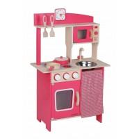 Beeboo Ξύλινη κόκκινη κουζίνα με αξεσουάρ Beeboo 47024587